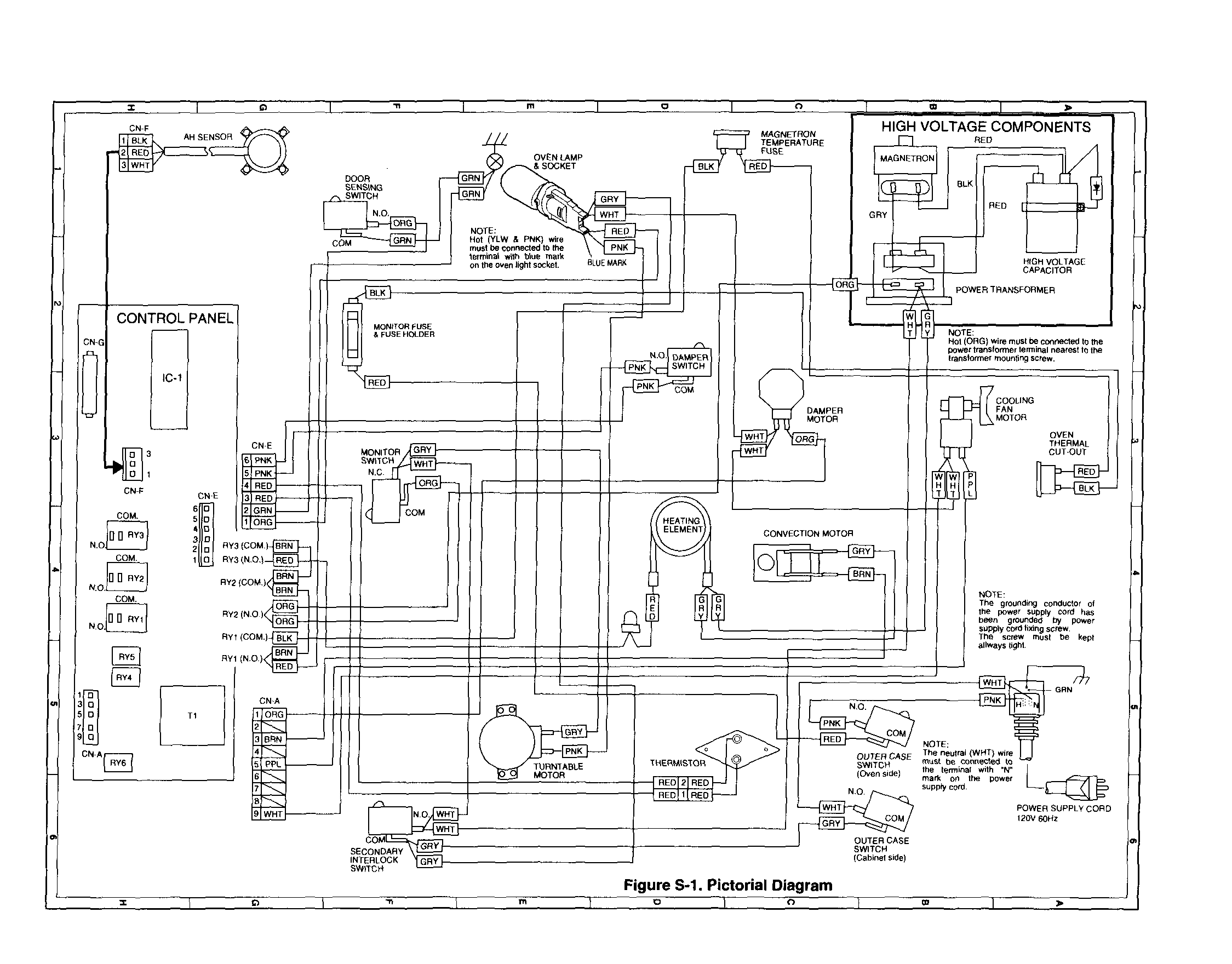 Vs 7482 Wiring Diagram Diagram And Parts List For Sharp