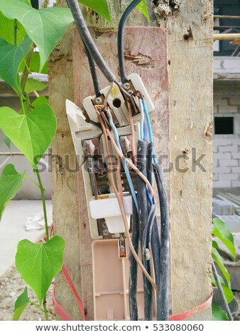 Surprising Unsafe Electrical Wiring Construction Site Stock Photo Edit Now Wiring Cloud Waroletkolfr09Org