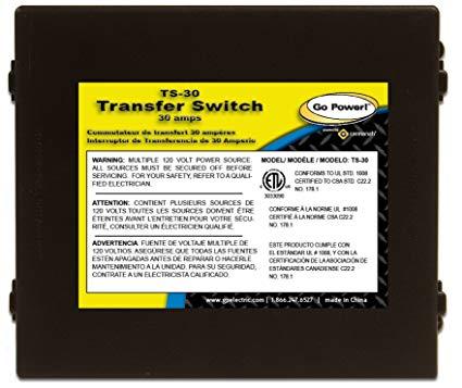 Super Amazon Com Go Power Ts 30 30 Amp Automatic Transfer Switch Automotive Wiring Cloud Icalpermsplehendilmohammedshrineorg