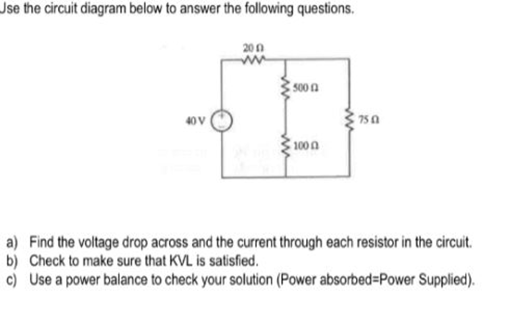 Miraculous Solved Use The Circuit Diagram Below To Answer The Follow Wiring Cloud Picalendutblikvittorg