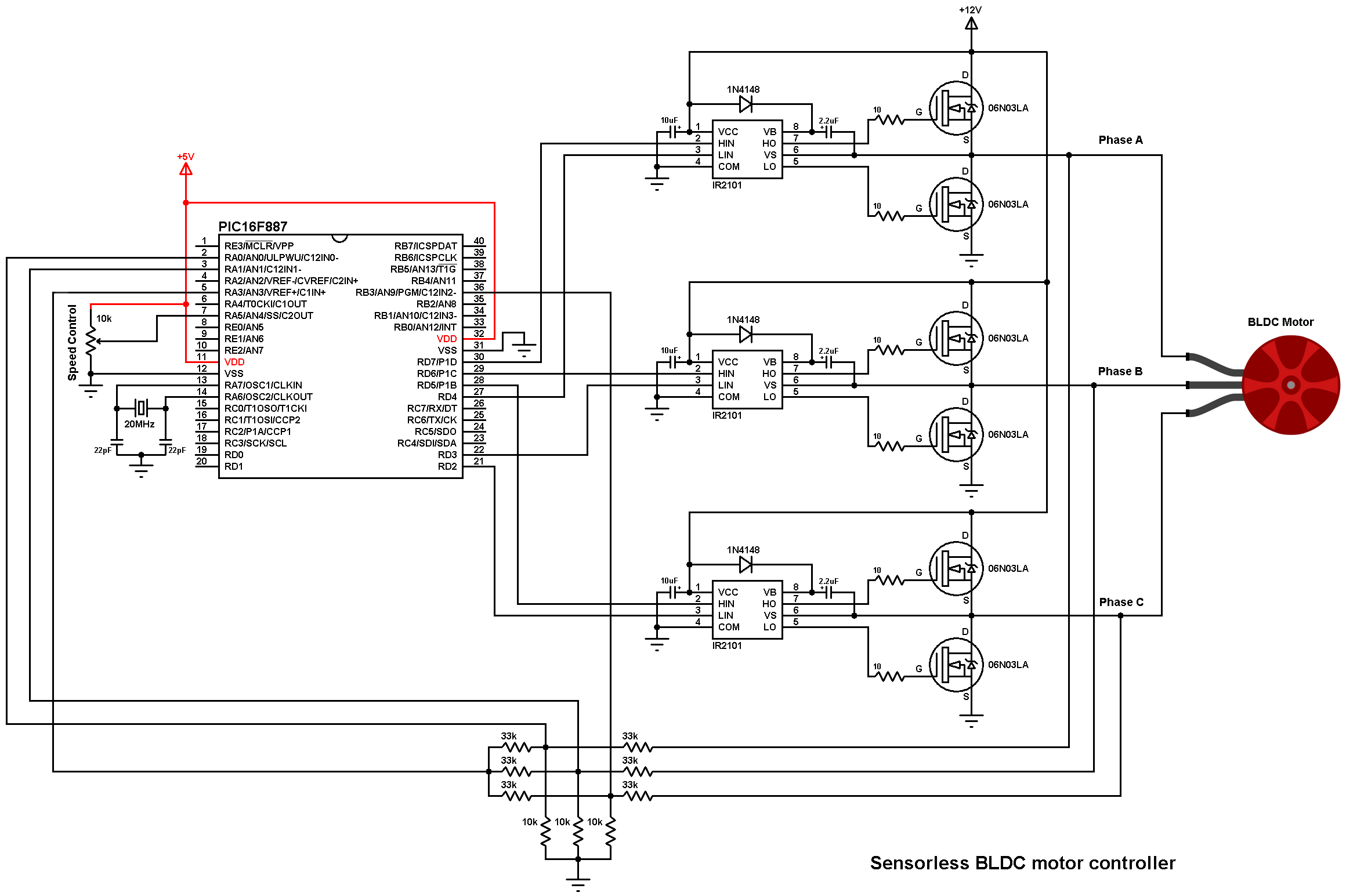 EG_8050] Brushless Bldc Motor Driver Circuit Electronic Circuit Projects  Free Diagram