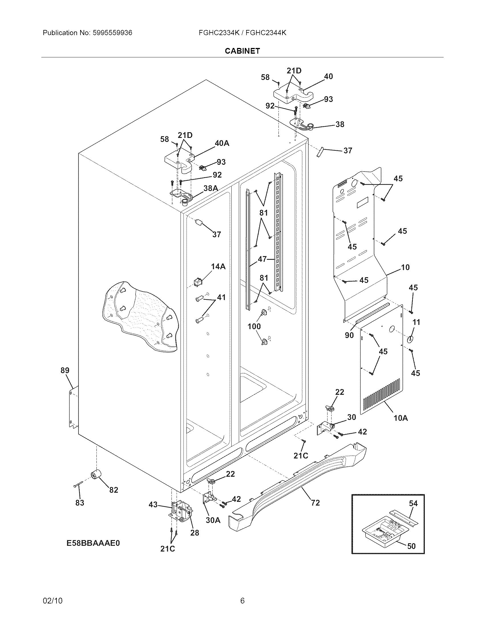 Te 6517  Wiring Diagram Frigidaire Gallery Refrigerator