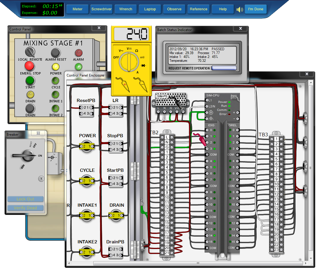 Gs 3918 Basic Electrical Training In Troubleshooting With Circuit Simulation Download Diagram