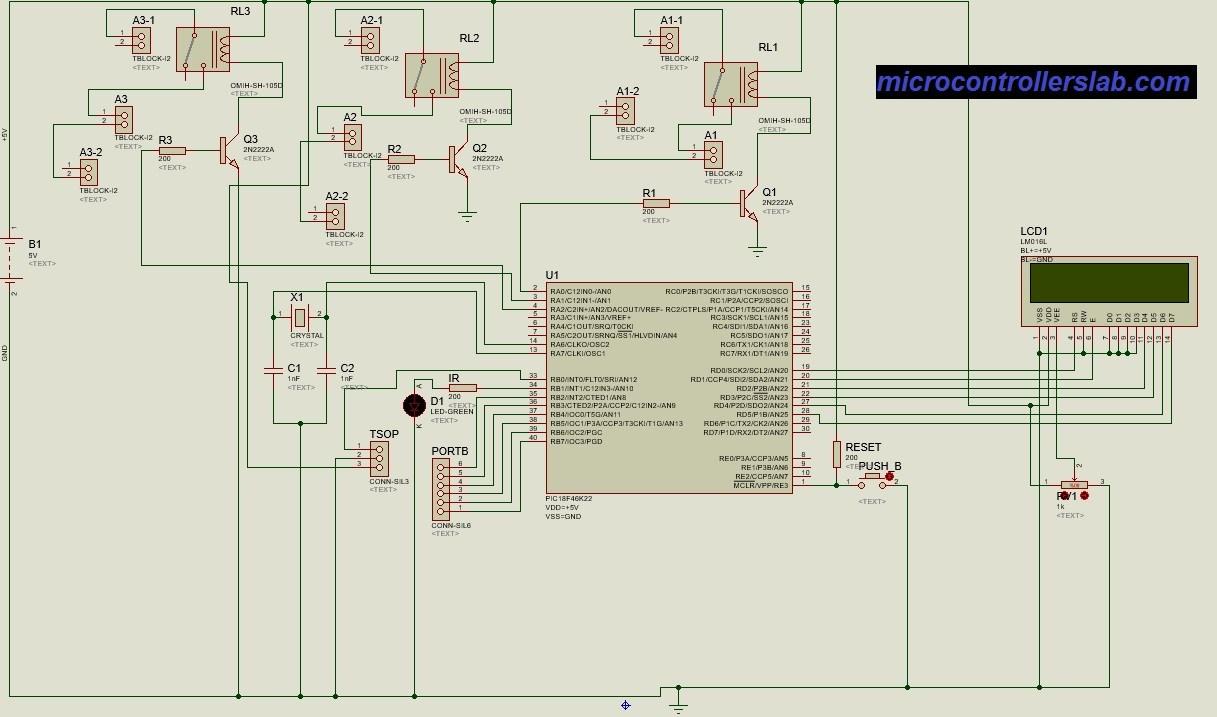 Wondrous Tv Remote Controlled Home Automation System Using Pic Microcontroller Wiring Cloud Histehirlexornumapkesianilluminateatxorg
