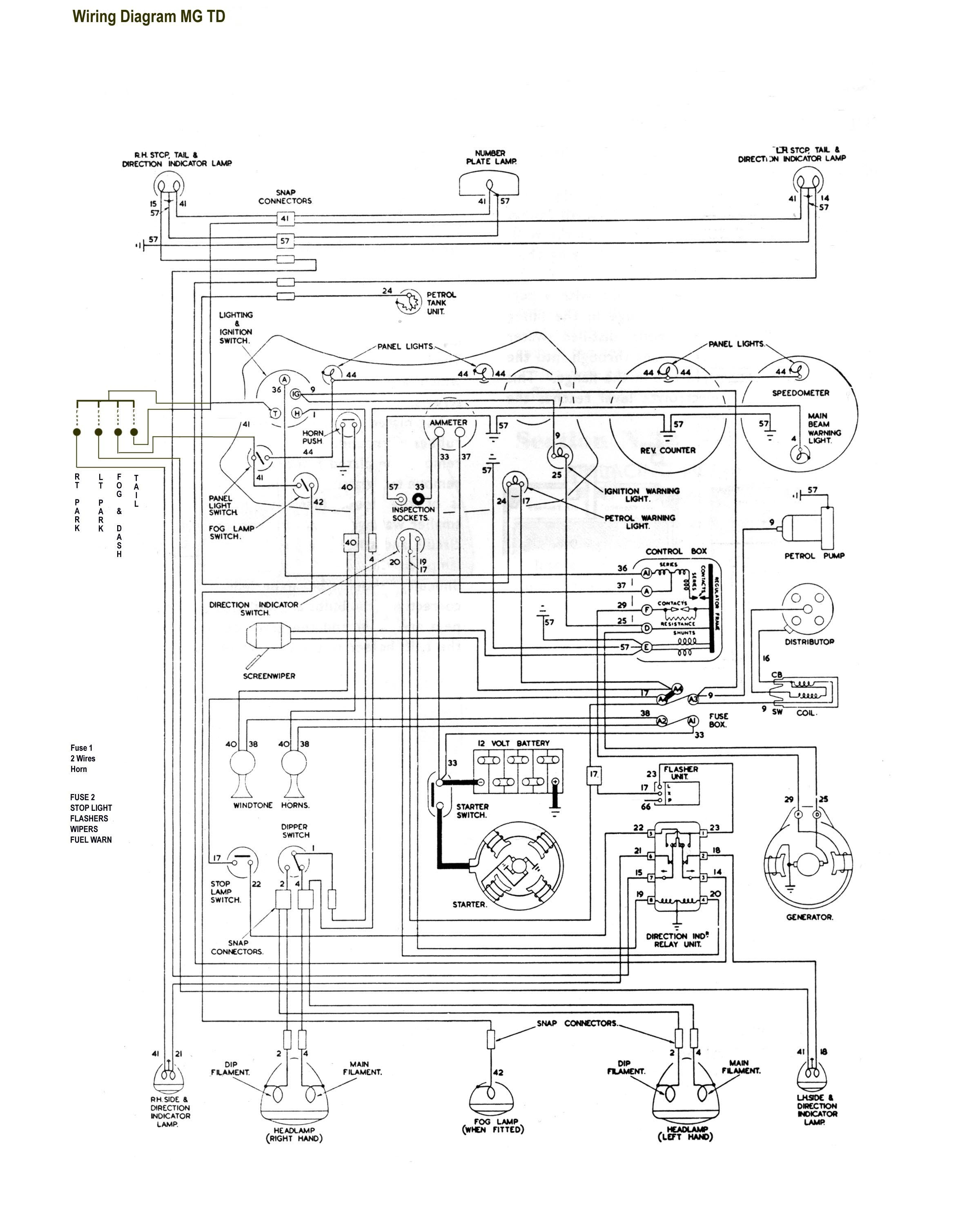 1952 Mg Td Wiring Harness - Vss Wire Diagram for Wiring Diagram SchematicsWiring Diagram Schematics