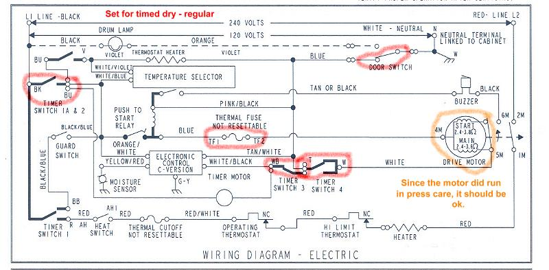 Dryer Wiring Schematics Wiring Diagrams Home