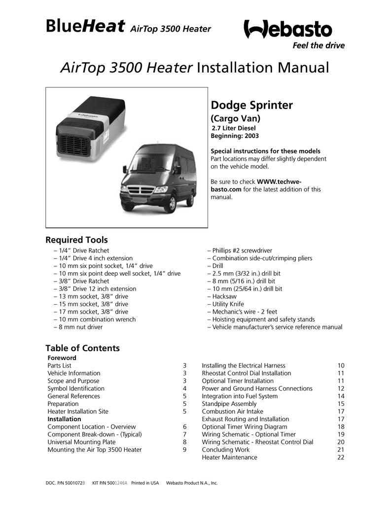 Swell Webastoto Air Top 3500 Installation Manual Manualzz Com Wiring Cloud Licukosporaidewilluminateatxorg