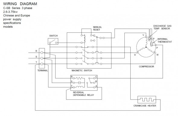 Single Phase Scroll Compressor Wiring Diagram
