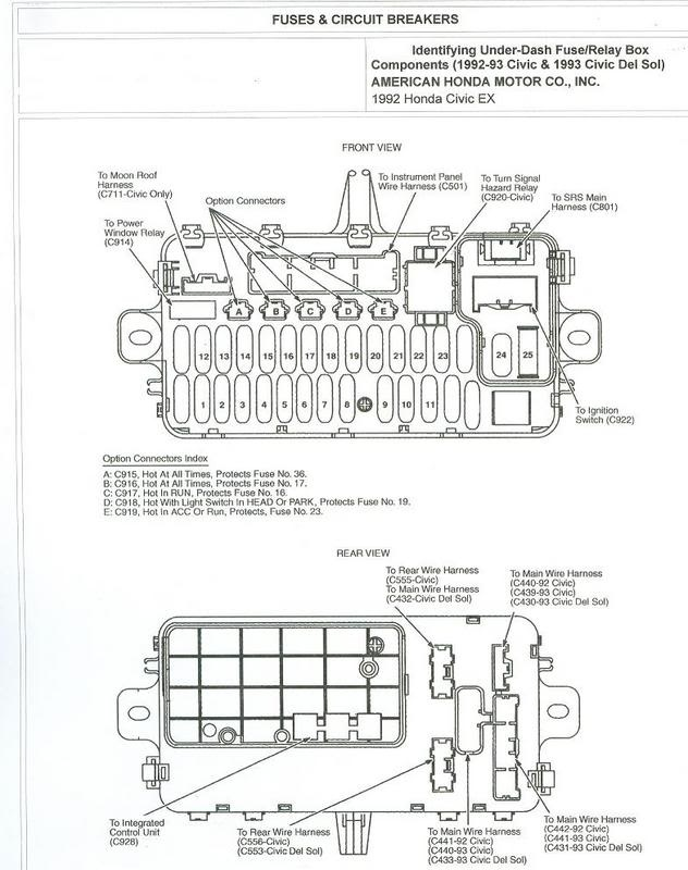 NA_1770] 92 Honda Accord Under Dash Fuse Box Free Diagram