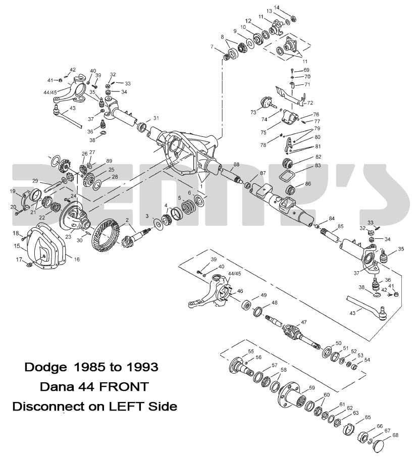 Xt 5186  Dana 44 Front Axle Diagram Wiring Diagram