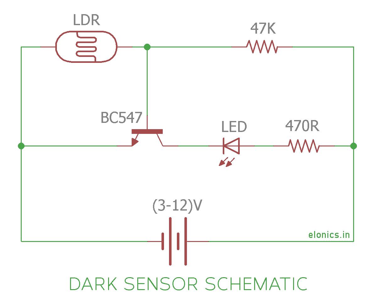 Wondrous Dark Sensor Circuit Using Ldr Basic Electronics Wiring Diagram Wiring Cloud Rometaidewilluminateatxorg