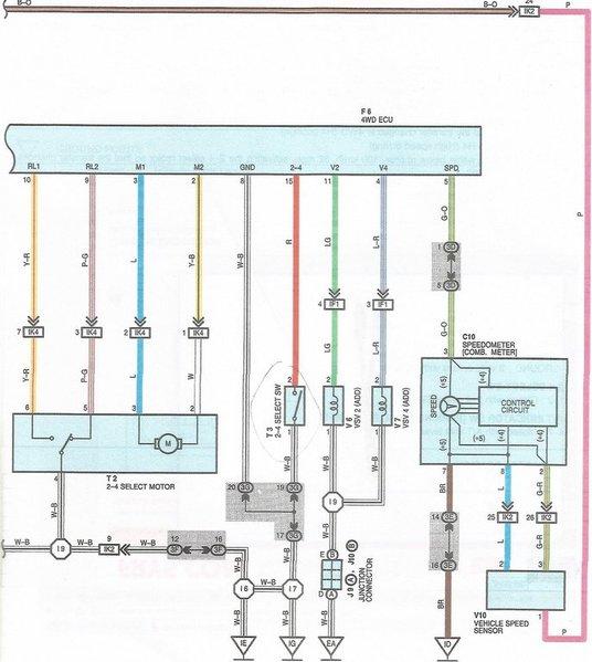 Ee 0724  Toyota 4 Wheel Drive Actuator Switch Schematic