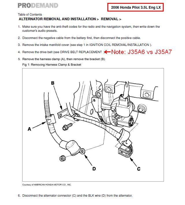 Fl 6001 2016 Honda Odyssey Alternator Wiring Diagram Free Diagram