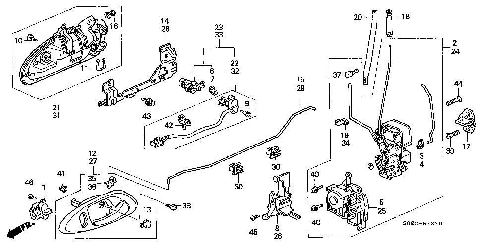 2000 civic door wiring diagram vn 9424  honda civic door lock diagram free diagram  vn 9424  honda civic door lock diagram