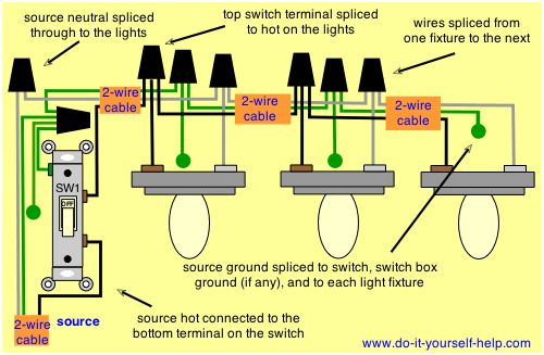 Excellent Wiring Diagram For Multiple Light Fixtures Diy Vanity Mirror Wiring Cloud Domeilariaidewilluminateatxorg