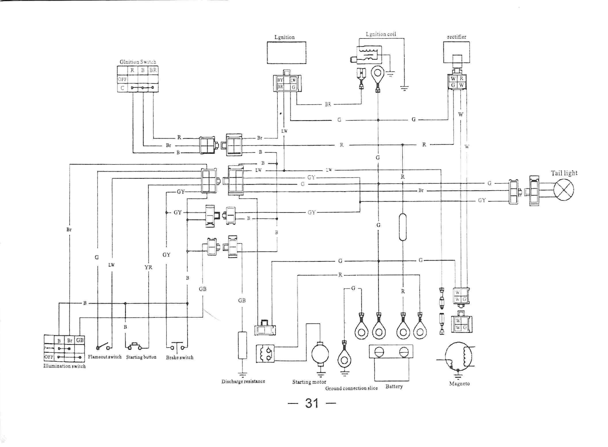 Wiring Diagram For 90cc Quad