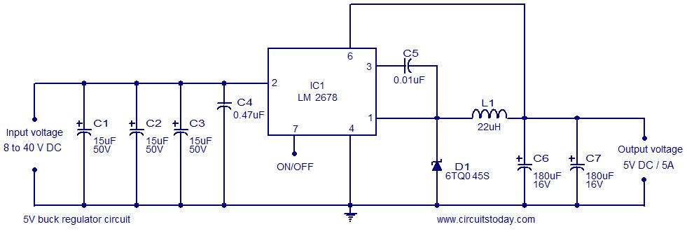 Swell 5V Buck Regulator Using Lm2678 Electronic Circuits And Diagrams Wiring Cloud Gufailluminateatxorg