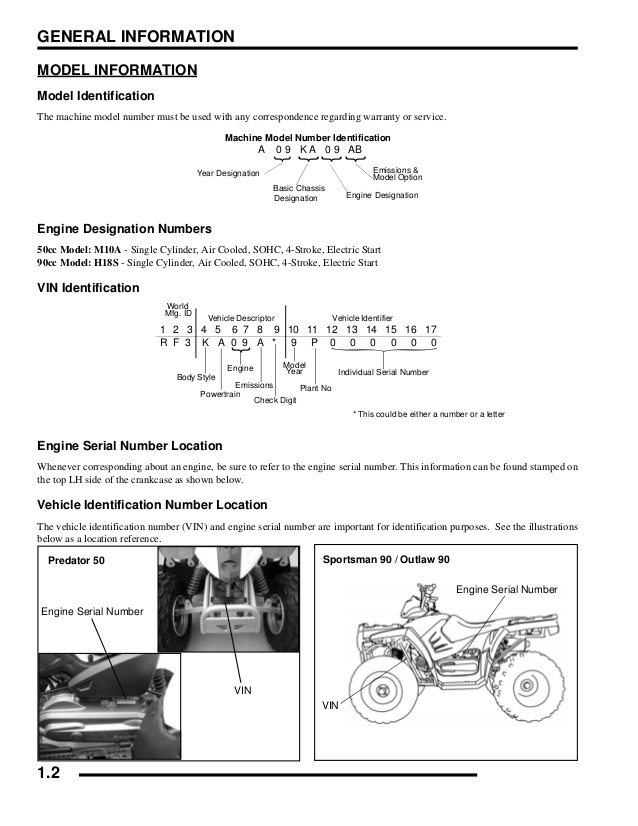 Polaris Scrambler 90 Owners Manual