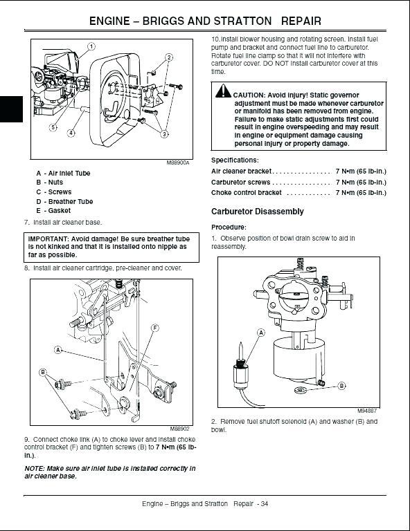 Zs 6216  Briggs And Stratton Lawn Mower Engine Diagram Download Diagram