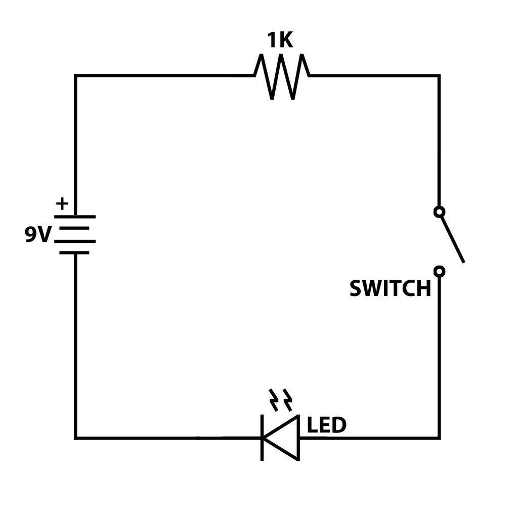 Stupendous Led Circuit With Switch Basic Electronics Wiring Diagram Wiring Cloud Xortanetembamohammedshrineorg