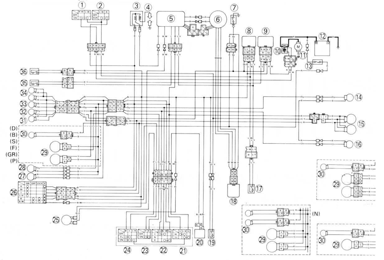 Db 4418  Moreover Yamaha Big Bear 350 Wiring Diagram On