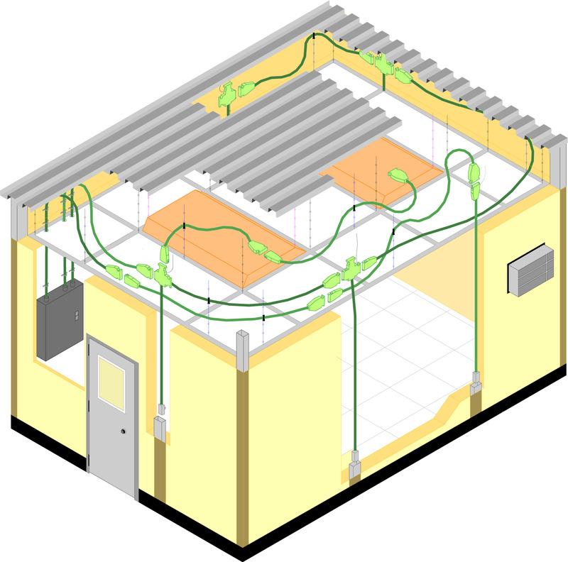 Surprising Portafab Modular Electrical Wiring System For Prefabricated Buildings Wiring Cloud Gufailluminateatxorg