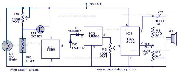Awesome Simple Fire Alarm Circuit Projectabstracts Com Projects Ideas Wiring Cloud Genionhyedimohammedshrineorg