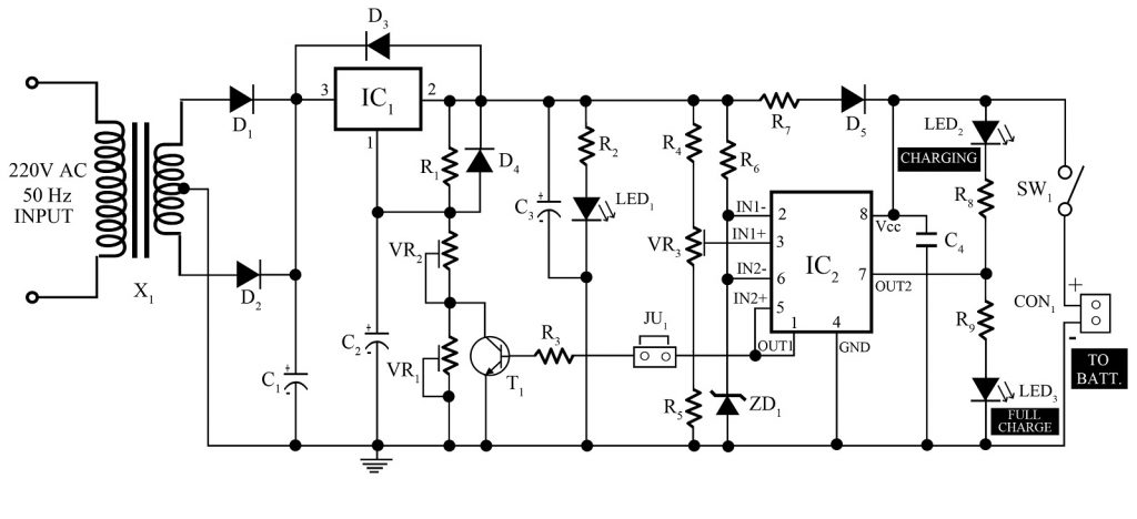 Stupendous 12V 7Ah Smart Battery Charger With Pcb Diagram Engineering Projects Wiring Cloud Icalpermsplehendilmohammedshrineorg