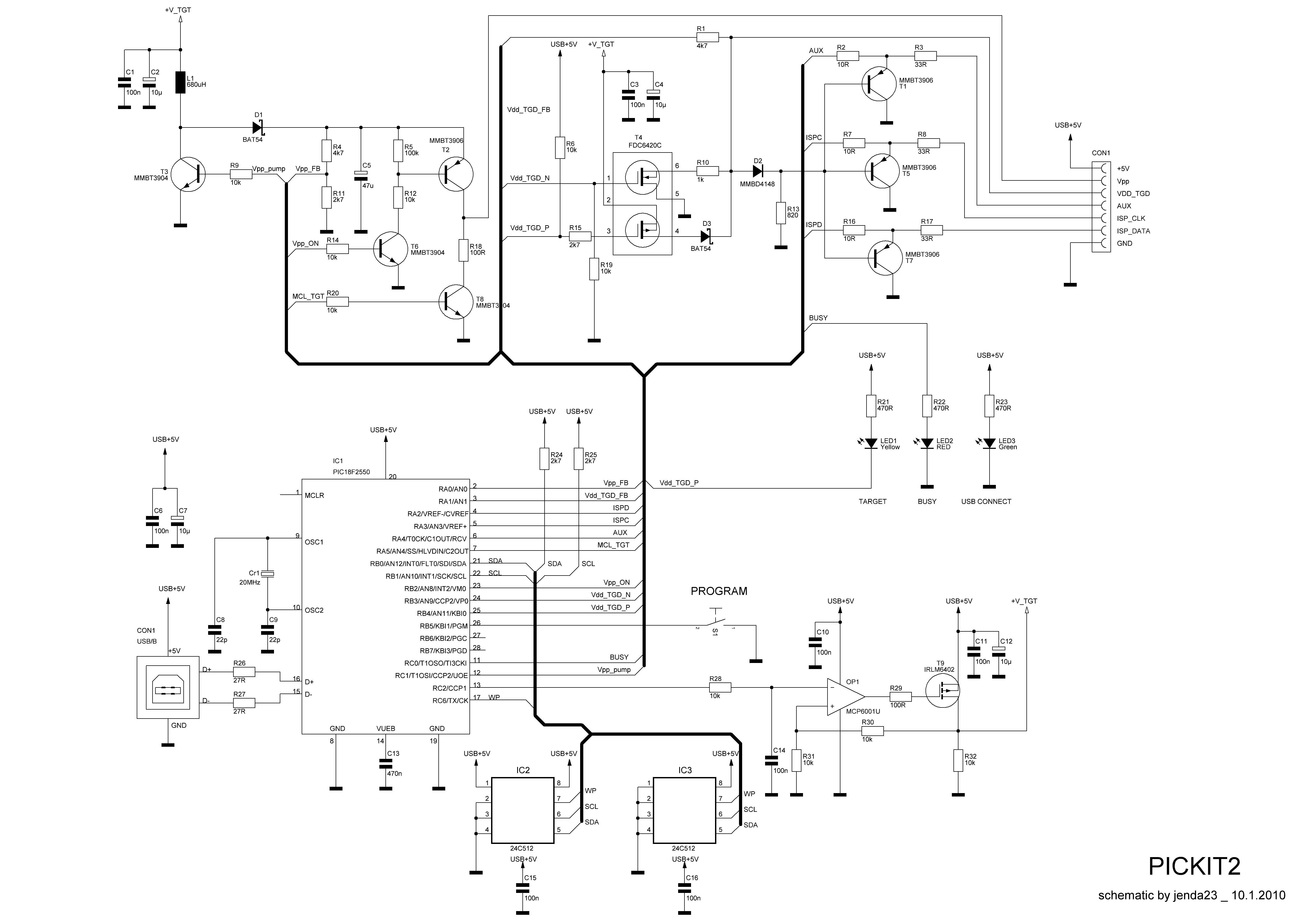 pickit 3 circuit diagram rz 1958  pickit 2 clone schematic wiring  rz 1958  pickit 2 clone schematic wiring