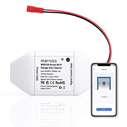 Brilliant Meross Smart Wi Fi Garage Door Opener Remote App Control Wiring Cloud Monangrecoveryedborg
