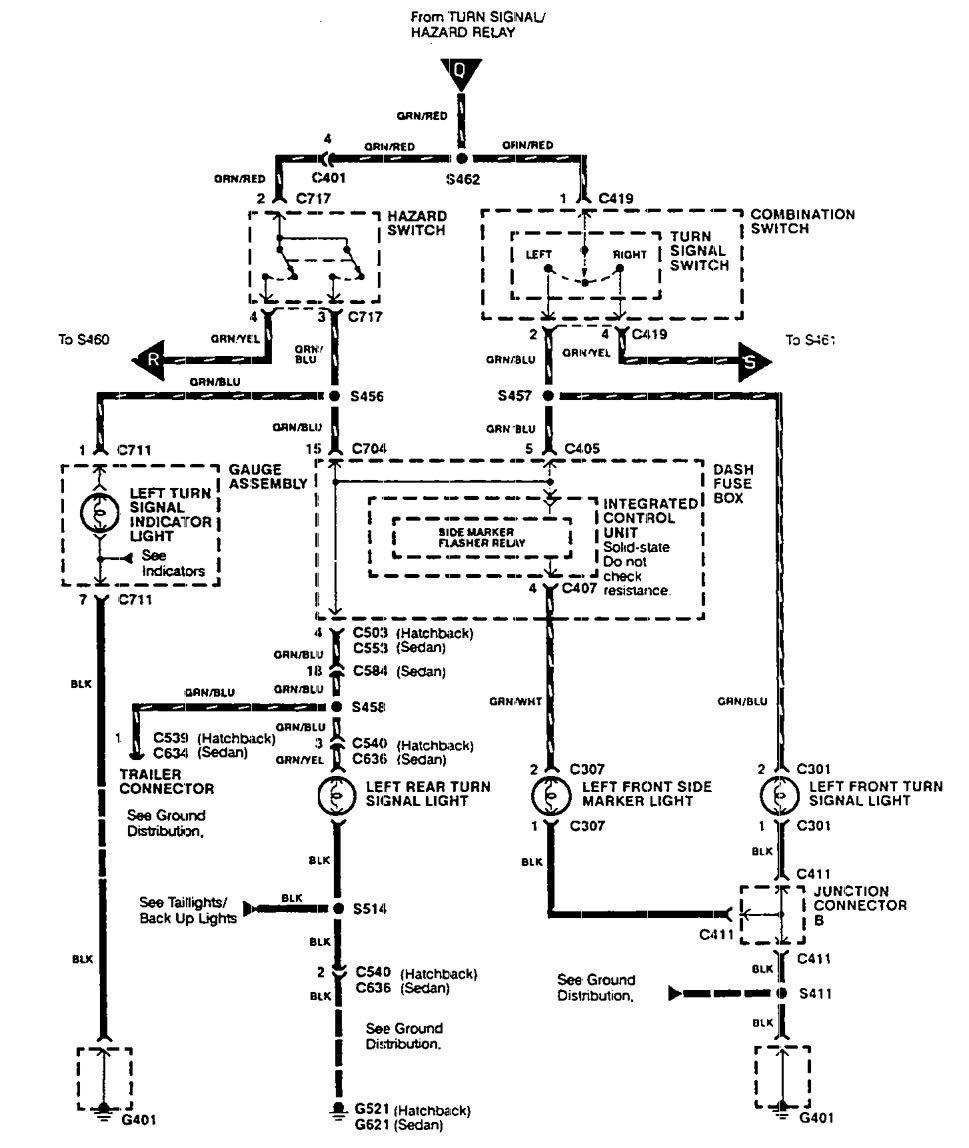 1995 Acura Integra Turn Signal Wiring Diagram
