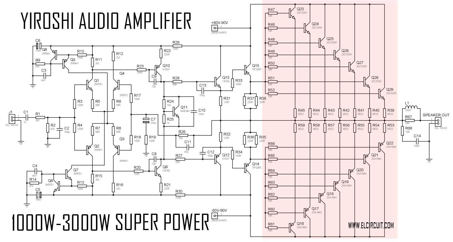 Prime 1000W Audio Amplifier Circuit Diagrams Wiring Diagram Read Wiring Cloud Overrenstrafr09Org