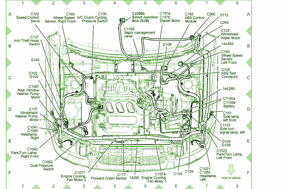 01 escape fuse panel diagram ad 0290  2001 ford escape radiator diagram schematic wiring  2001 ford escape radiator diagram