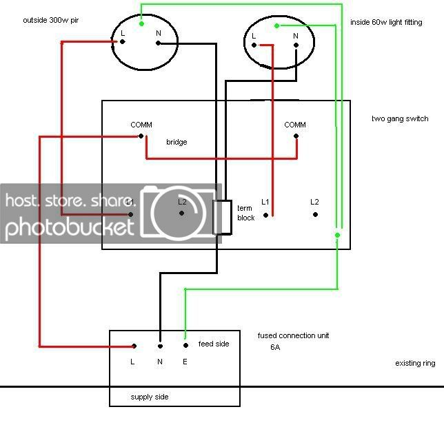 outside light wiring diagram uk ar 0831  how do i wire a switch to a pir light diynot forums free  how do i wire a switch to a pir light