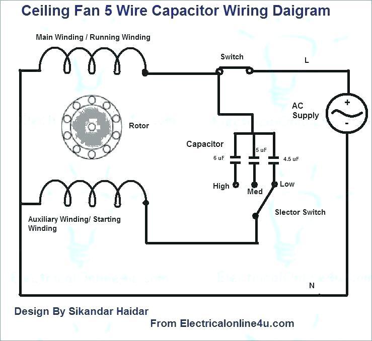 simple ceiling fan wiring diagram ww 5384  capacitors 5 wire ceiling fan wiring diagram ceiling fan  wire ceiling fan wiring diagram