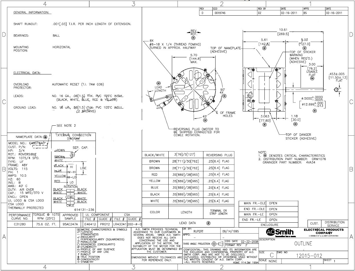 Wiring Diagram For Ao Smith Pool Pump