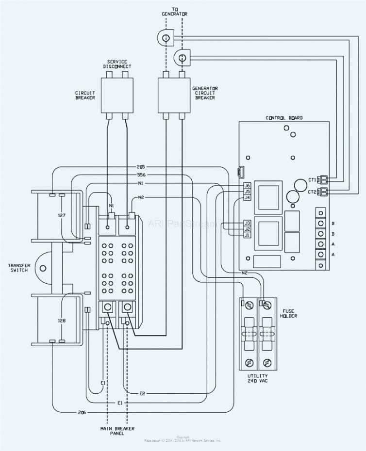 gb0169 how to wire generator transfer switch to a circuit