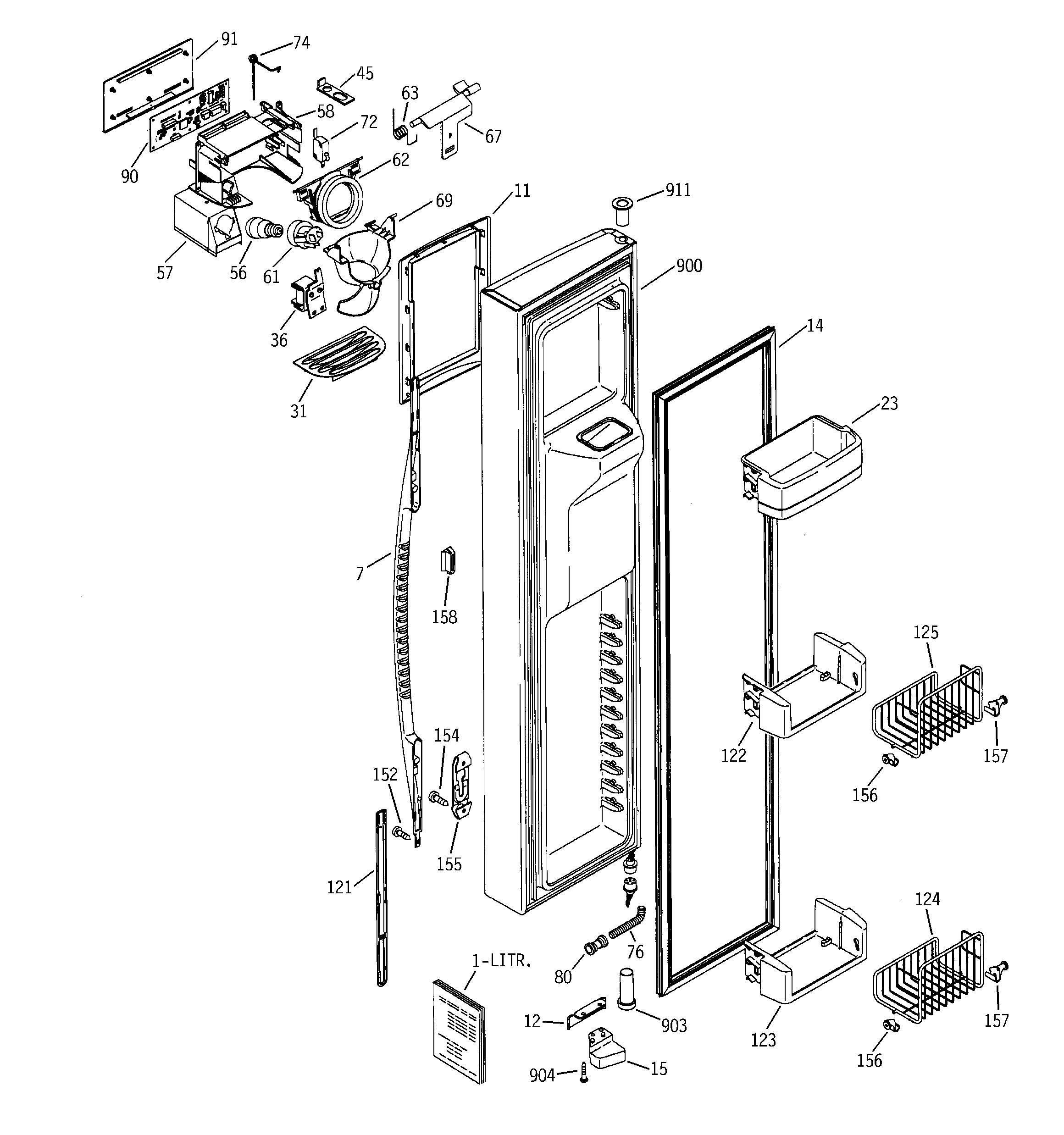 ge profile range wiring diagram bw 8504  parts diagram on ge profile top freezer refrigerator  parts diagram on ge profile top freezer