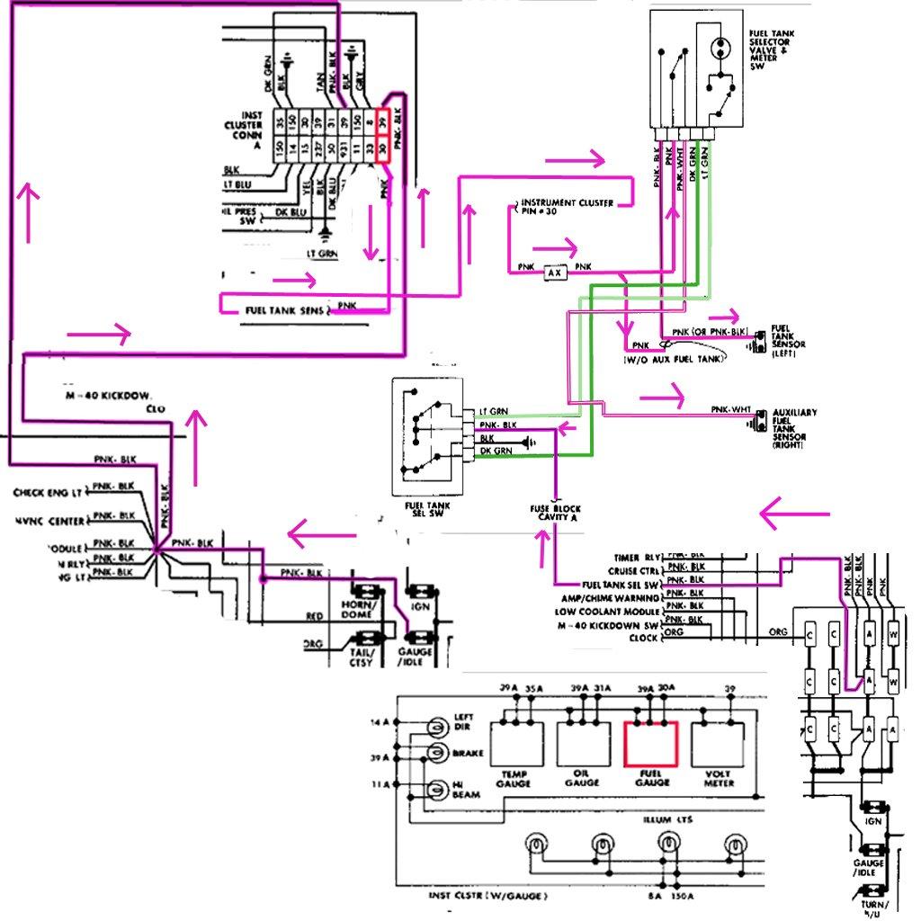 Wz 2228  Wiring Diagram For Chevrolet Fuel Gauge