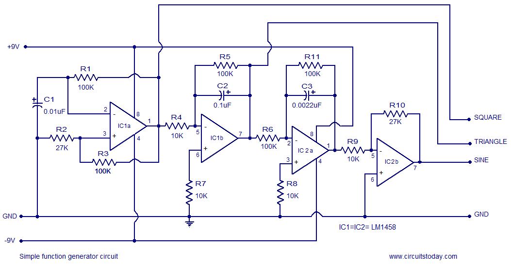 Cool Simple Function Generator Circuit Based On Opamp Lm1458 Wiring Cloud Ymoonsalvmohammedshrineorg