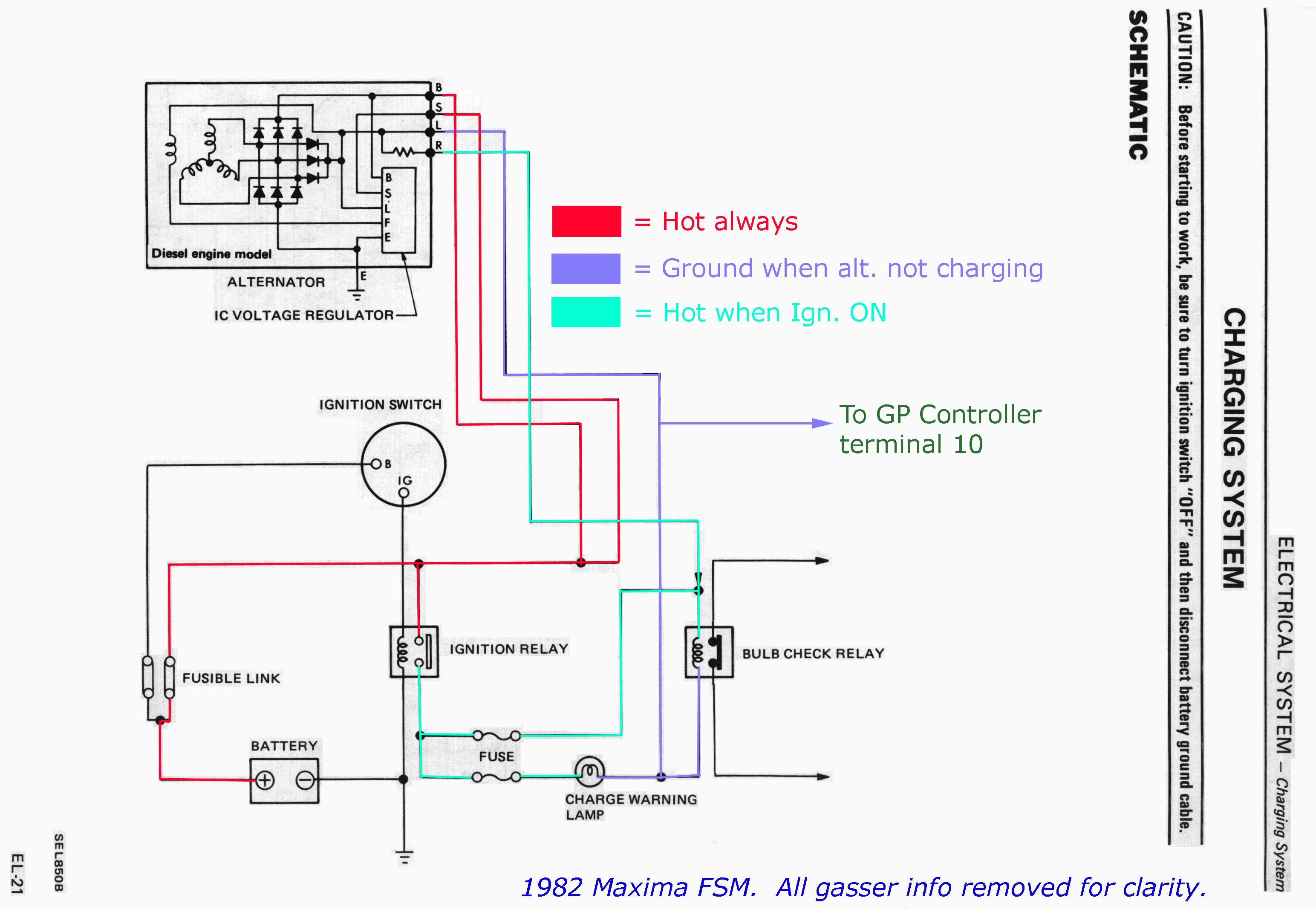 alternator wiring diagram nissan wg 8244  hitachi alternator wiring diagram on nissan 720 turn  hitachi alternator wiring diagram on
