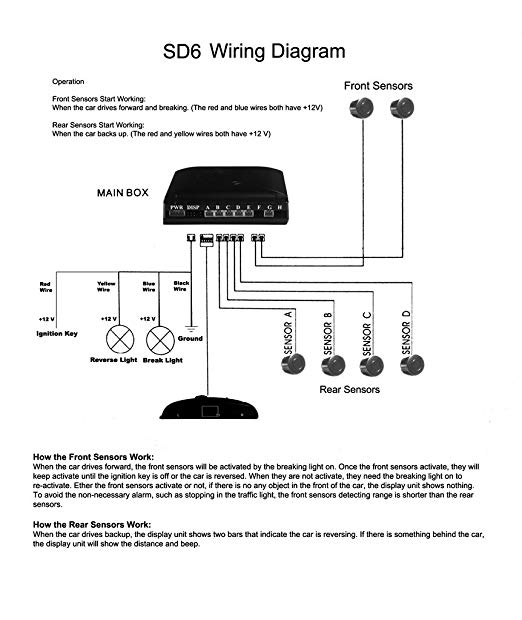 Wiring Diagram For Front Parking Sensors