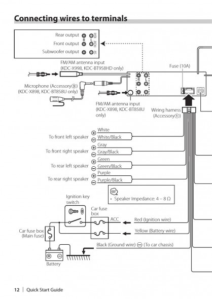 Wiring Diagram For Kenwood Kdc 138