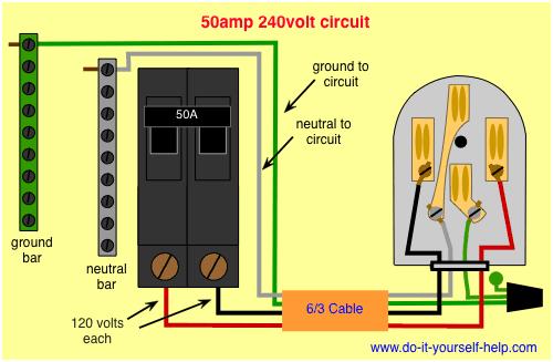 Miraculous Wiring Diagram For A 50 Amp 240 Volt Circuit Breaker Electrical Wiring Cloud Inklaidewilluminateatxorg