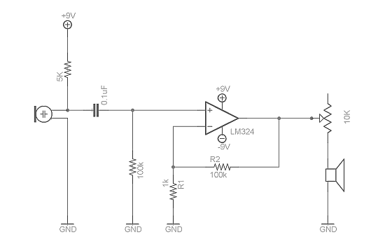 5532 ic mic preamplifire circuit ms 8301  operational amplifier lm324 and super microphone circuit  operational amplifier lm324 and super
