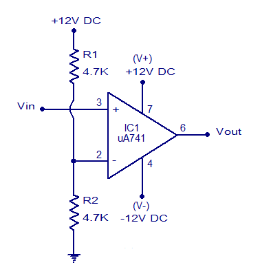 Peachy Voltage Comparator Using Opamp Inverting Voltage Comparator Non Wiring Cloud Waroletkolfr09Org