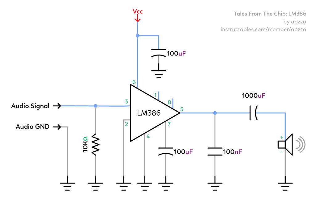 Incredible Tales From The Chip Lm386 Audio Amplifier 6 Steps With Pictures Wiring Cloud Staixaidewilluminateatxorg