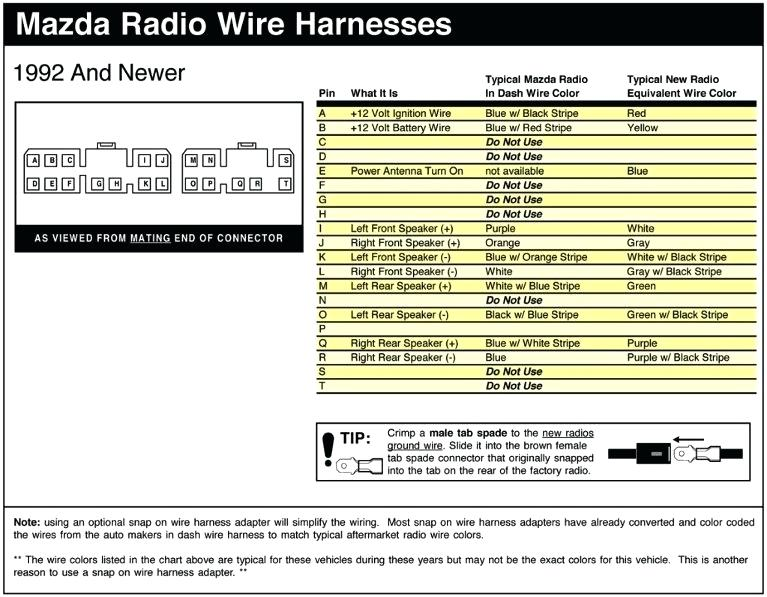 1999 Mazda 626 Radio Wiring Diagram