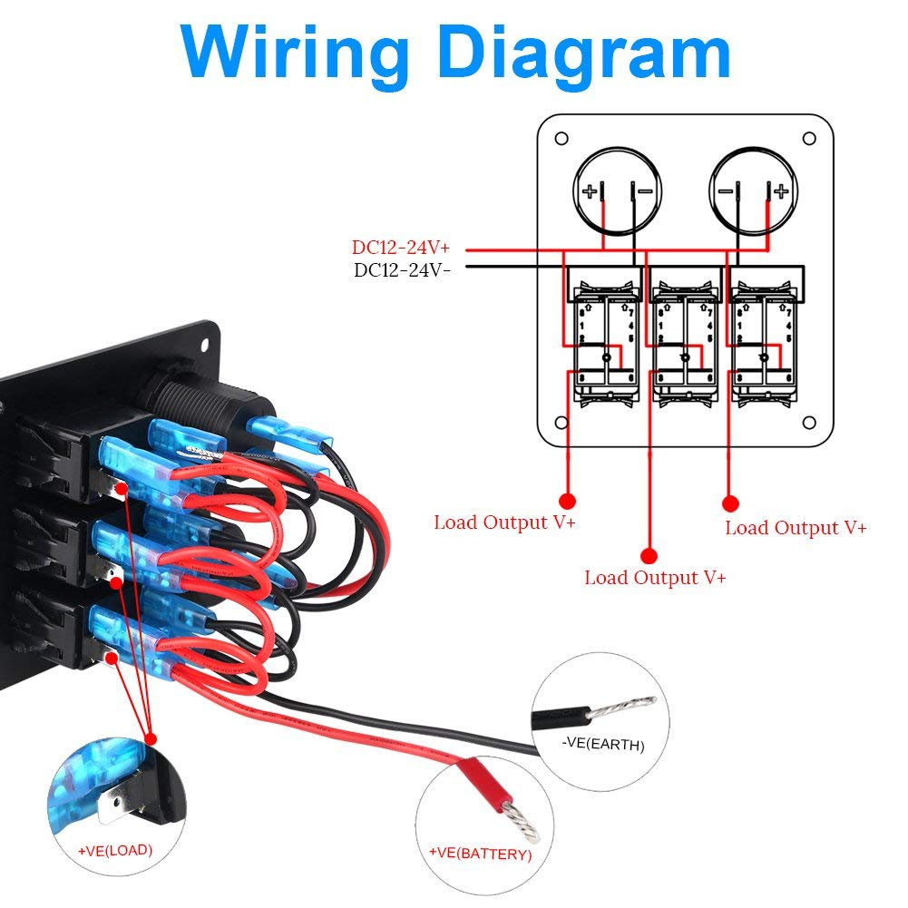 Boat Rocker Switch Wiring Diagram