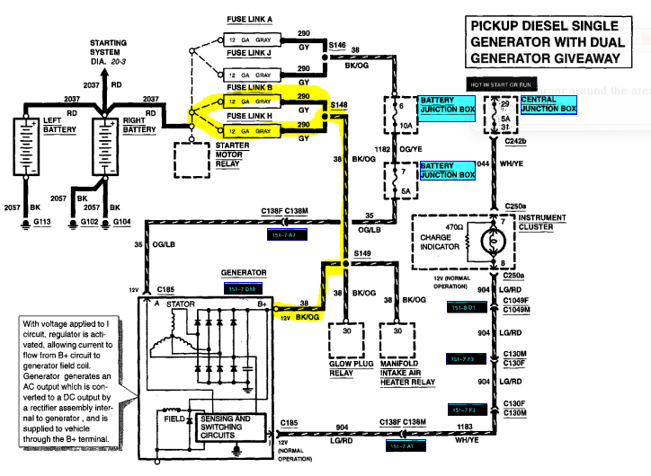 2000 ford taurus alternator wiring diagram nc 7635  ford wiring color code chart moreover ford f 350 wiring  chart moreover ford f 350 wiring